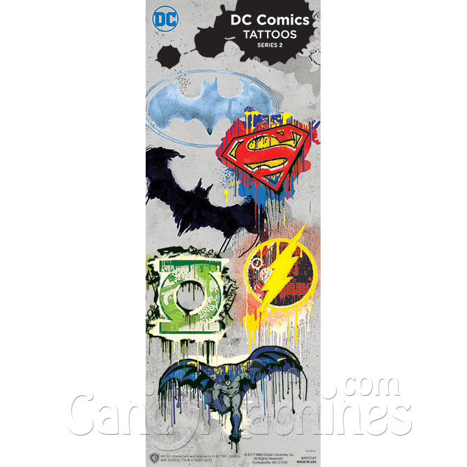Buy Dc Comics Logo Tattoos Vending Machine Supplies For Sale