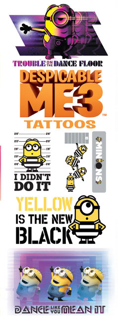 Despicable Me 3 Vending Tattoos - 300 ct. Refill