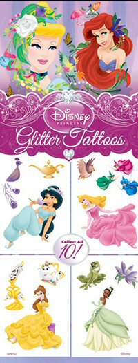 Disney Princess Glitter Vending Tattoos - Click Here To Buy!