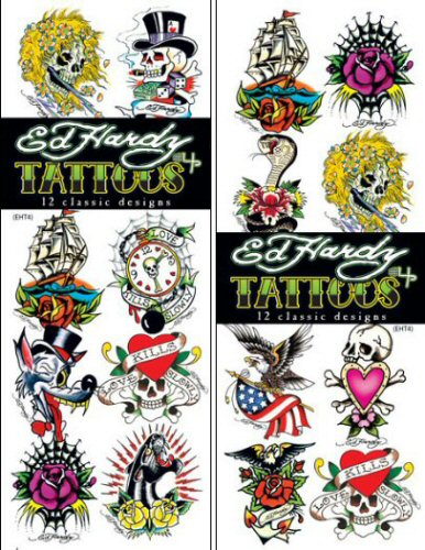Buy ed hardy celebrity 4 temporary vending tattoos for Supplies for tattooing