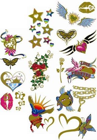 Buy heart of gold 2 temporary vending tattoos vending for Heart of gold tattoo