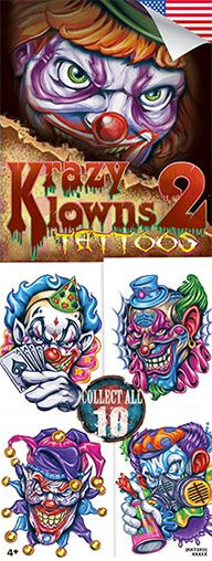 Krazy Klowns 2 Vending Tattoos - Vending Machine Refills