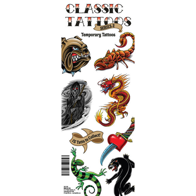 Liquid Skin Series 2 Classic Vending Tattoos - 300 ct. Refill