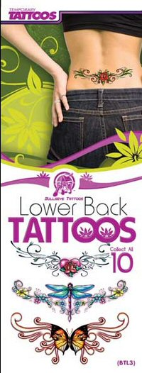 Lower Back Temporary Tattoos Flat Vending Machine Refills