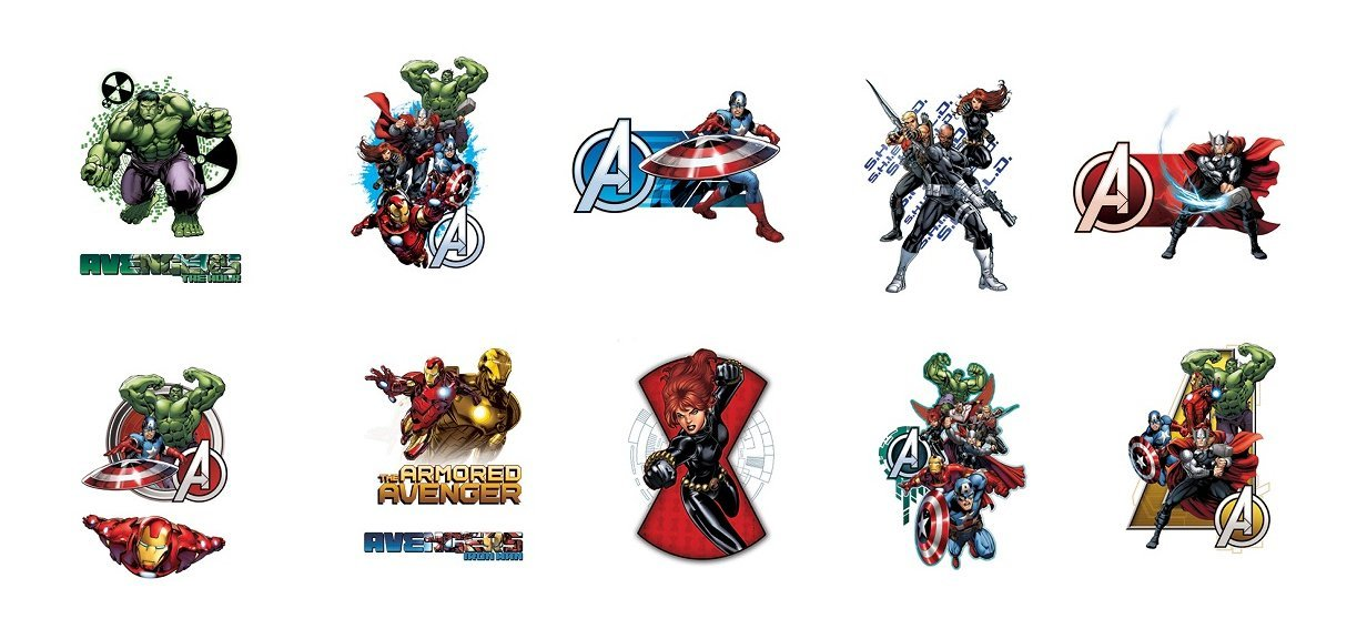 Marvel Avengers Assemble Vending Tattoos - 300 ct.
