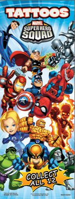 Marvel Super Hero Squad Vending Tattoos - Click Here To Buy!