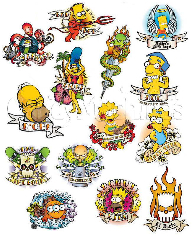 The Simpsons Tattoo Designs