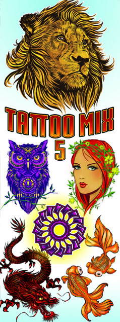 Tattoo Mix Vending Tattoos - 300 ct. Refill