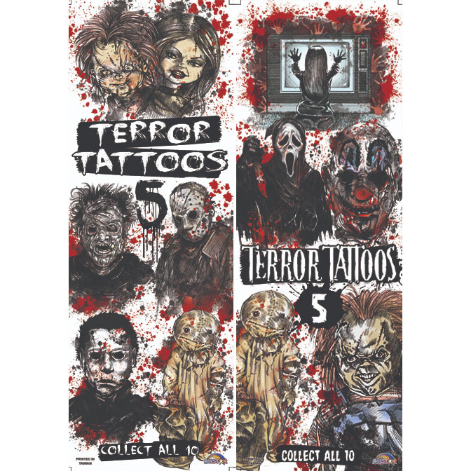 Terror Tattoos Series 5 Vending Tattoos - 300 ct. Refill