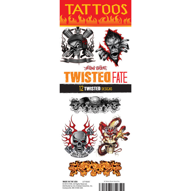 Deadly Sins and Twisted Fate Vending Tattoos - 300 ct. Refill