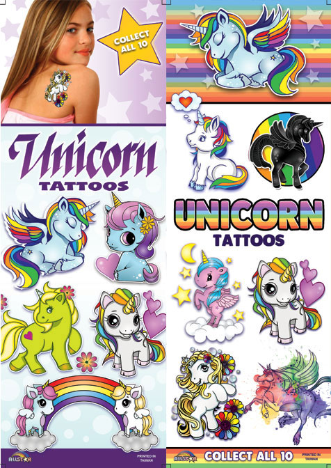 Unicorn Temporary Vending Tattoos - 300 ct. Refill