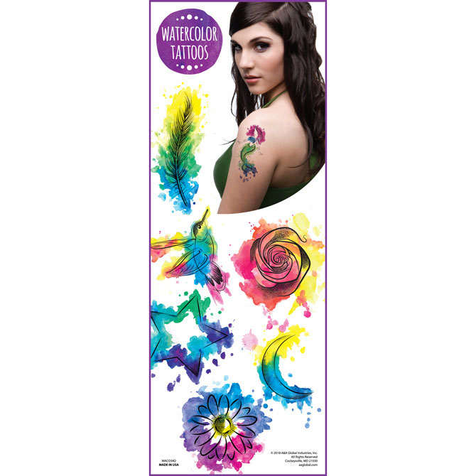 Watercolor Vending Tattoos - 300 ct. Refill