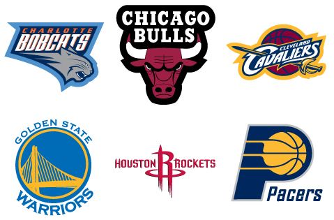 Nba team logos vending stickers refill 300ct