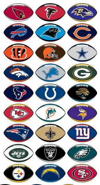 NFL Stickers  Vending Machine Refill 300 ct