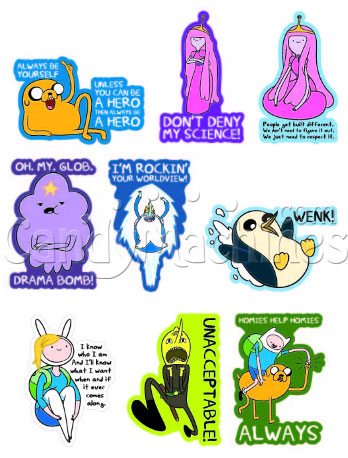 Buy Adventure Time Vending Machine Stickers Vending