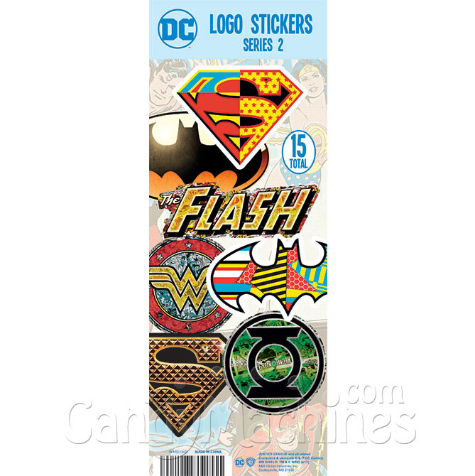 DC Comics Logo Vending Machine Stickers Refill 300ct