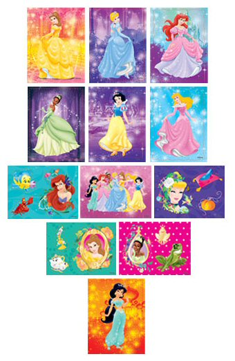 Disney Princess Shimmer Stickers