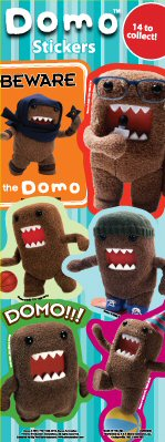 Domo Vending Stickers - Click Here To Buy!