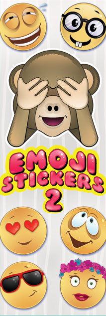 Emoji Series 2 Vending Machine Stickers Refill 300ct
