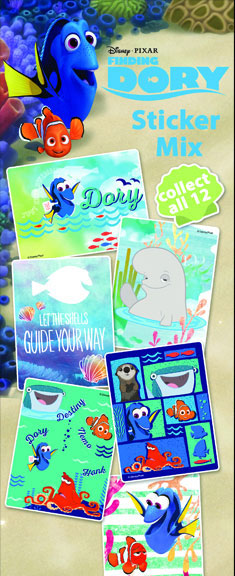 Finding Dory Vending Machine Stickers Refill 300ct