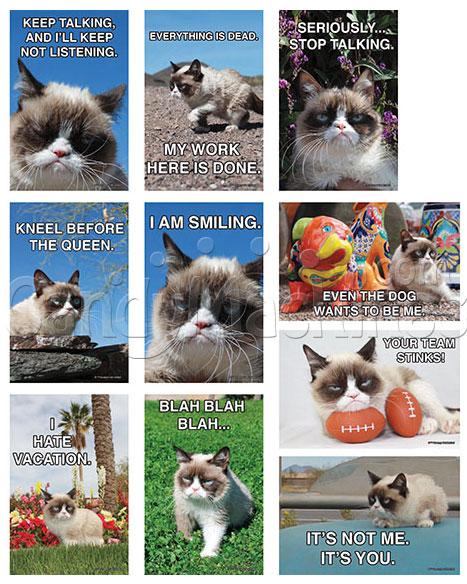 Grumpy Cat Vending Stickers
