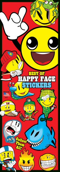 Happy Faces Vending Stickers Refill 300ct