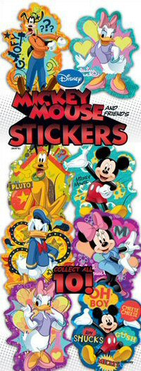 Mickey and Friends Vending Stickers