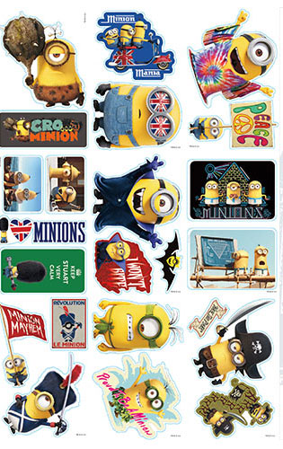 Minion Dress Up Vending Machine Stickers Refill 300ct