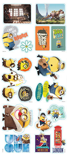 Minion Movie Vending Stickers