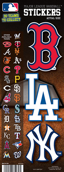 Mlb baseball teams vending stickers refill 300ct