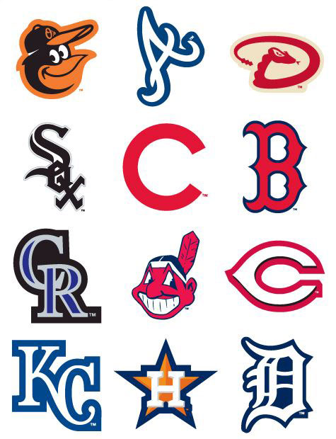 MLB Baseball Team Logos Vending Stickers Refill 300ct