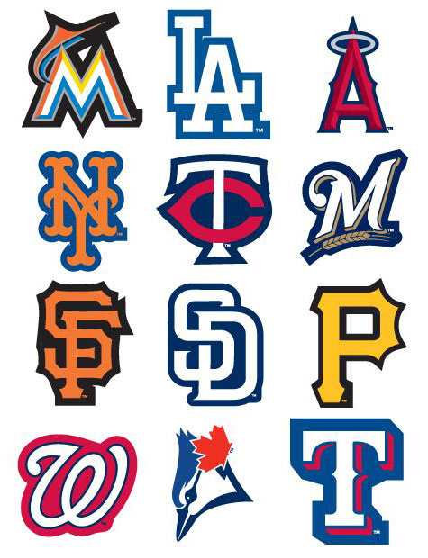 MLB Logo Vending Machine Stickers