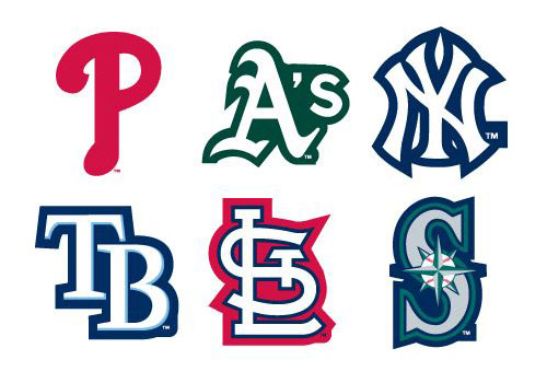 Mlb team logos vending stickers refill 300ct
