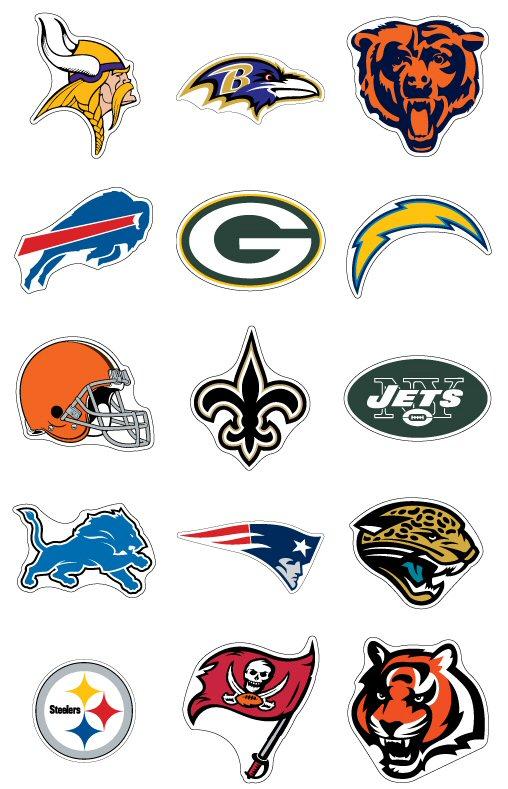 Nfl Stickers 32 Football Team Logo Jumbo Decals Ebay