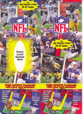 NFL Player Cards with Football Flick FlatGame