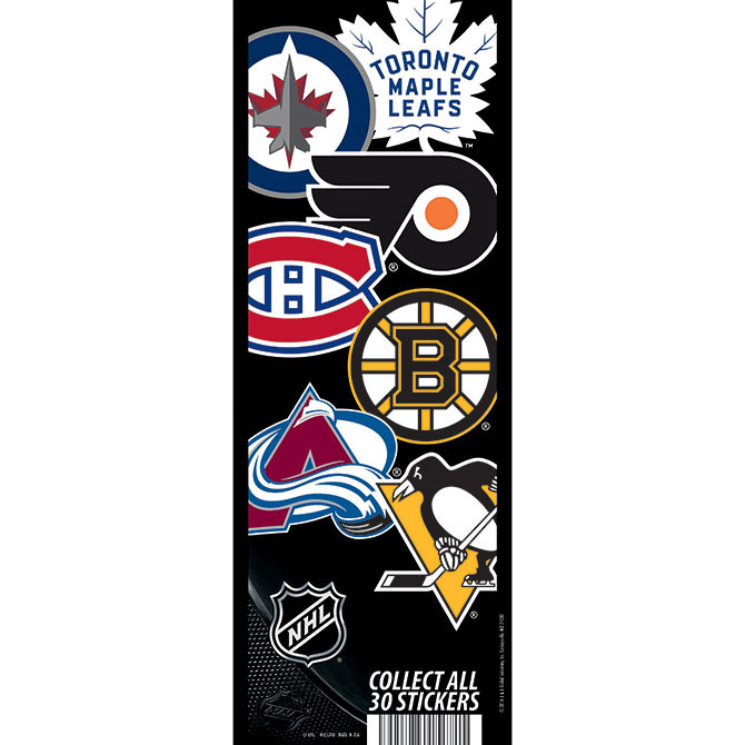 NHL Logo Vending Machine Stickers Refill 300ct