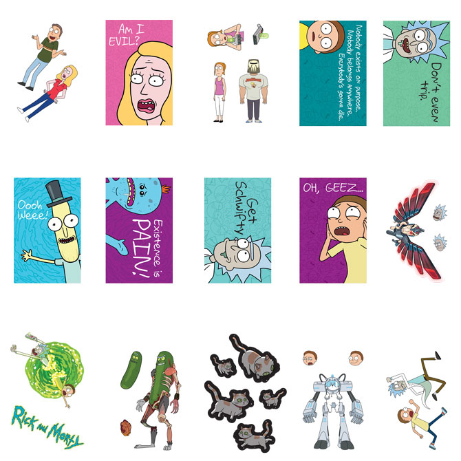 Rick and Morty Series 1 Vending Machine Stickers Refill 300ct