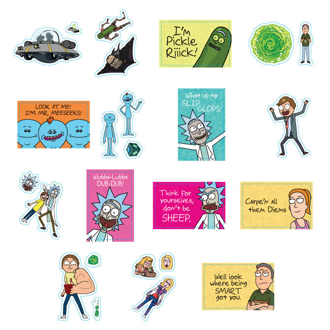 Rick and Morty Series 2 Vending Machine Stickers Refill 300ct