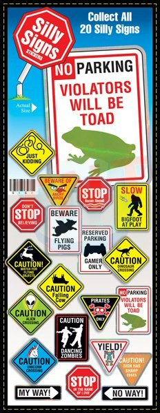 Silly signs vending stickers refill 300ct