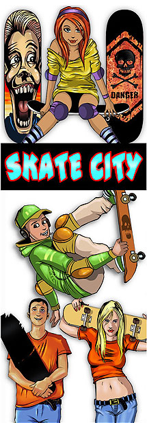 Skate City Vending Machine Stickers Refill 300ct