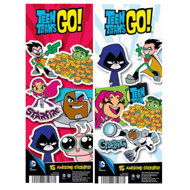 Teen Titans Go Vending Vending Stickers Refill 300ct