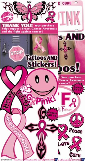 Think Pink Vending Stickers - Click Here To Buy!