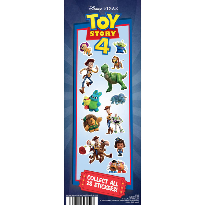 Toy Story 4 Vending Machine Stickers Refill 300ct