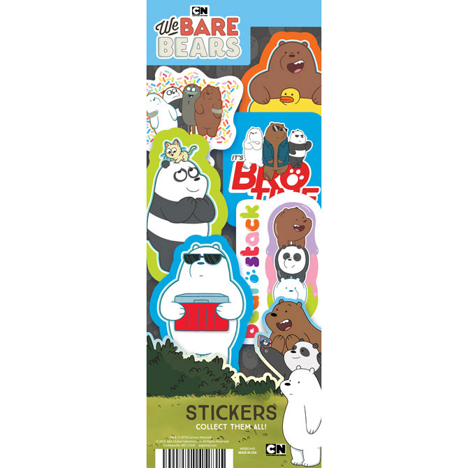 We Bare Bears Vending Machine Stickers Refill 300ct
