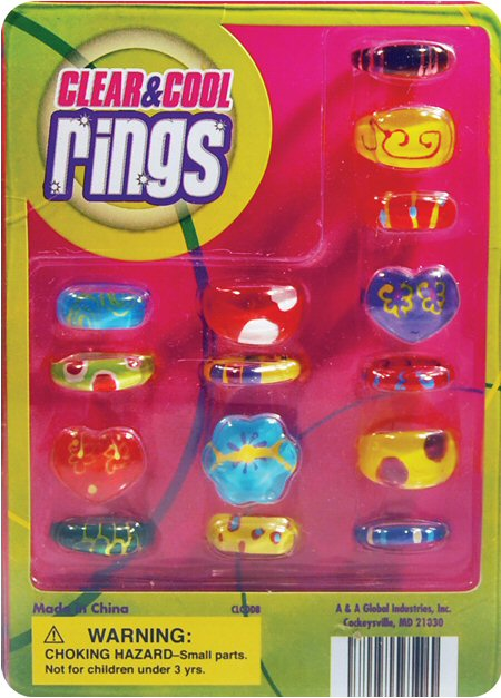 Clear and Cool Rings Vending Capsules
