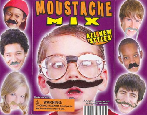 Fuzzy Face Moustaches Vending Capsules