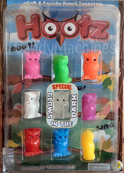 Hootz Pencil Toppers Vending Capsules