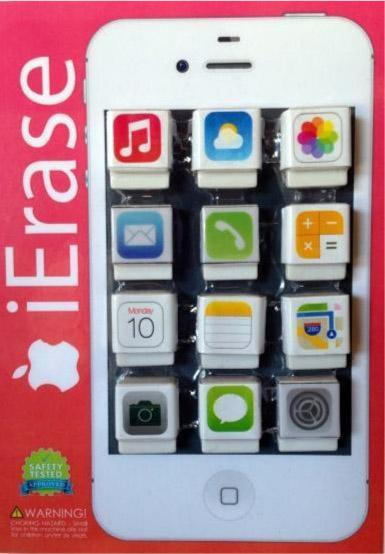 iErase Mini App Erasers Vending Capsules