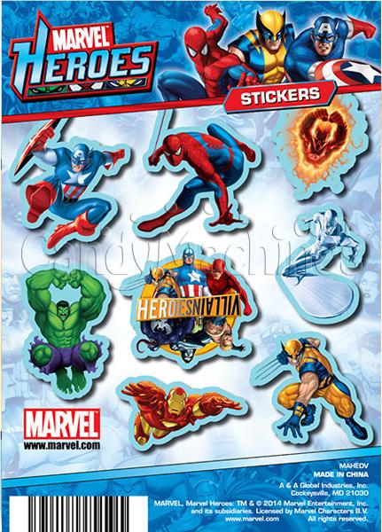 Marvel Heroes Stickers Vending Capsules