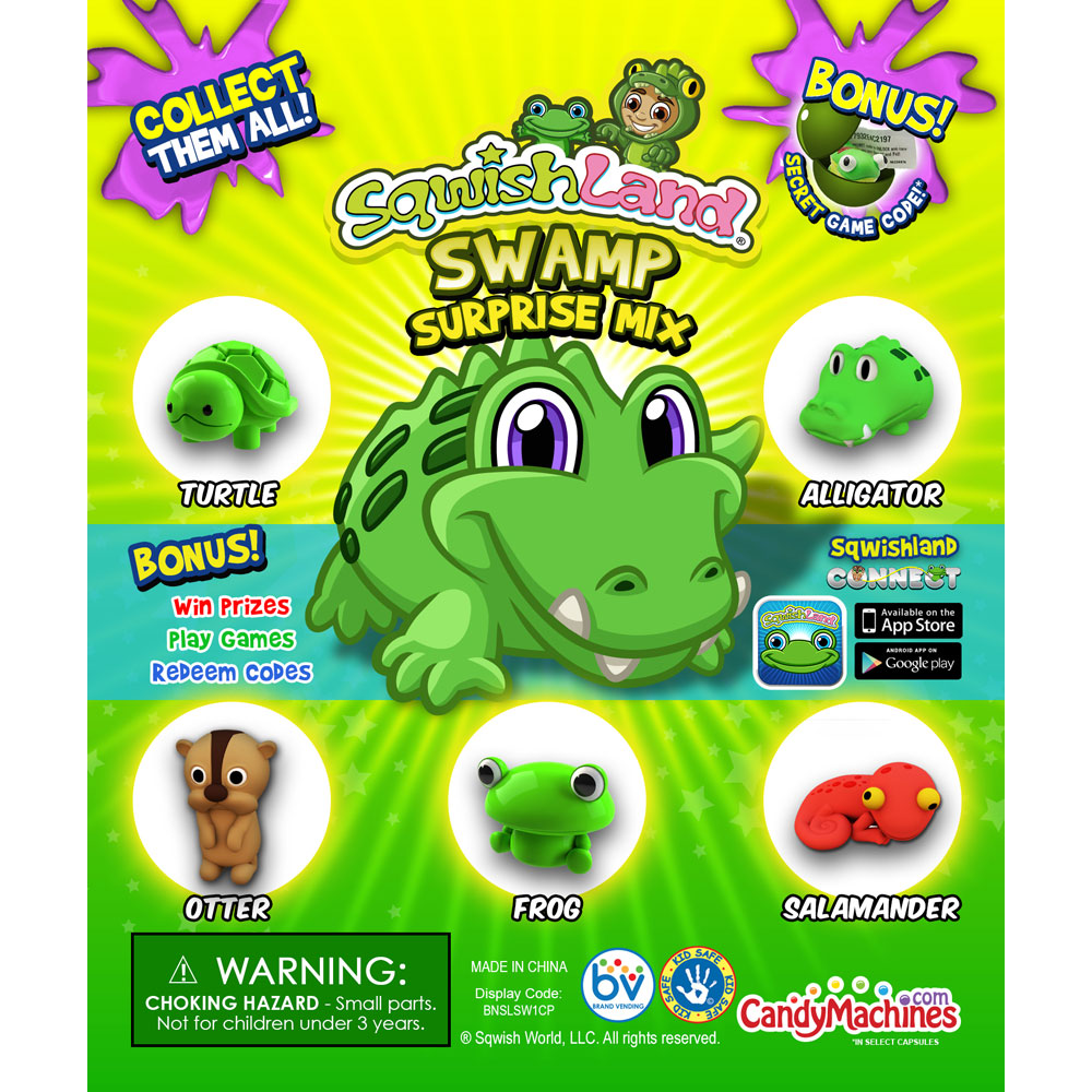 Sqwishland Swamp Vending Capsules - Click Here To Buy!